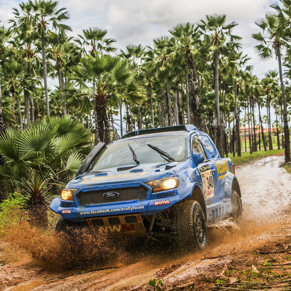 Brazilian-built Ford Ranger V8 X Rally Team win on its debut