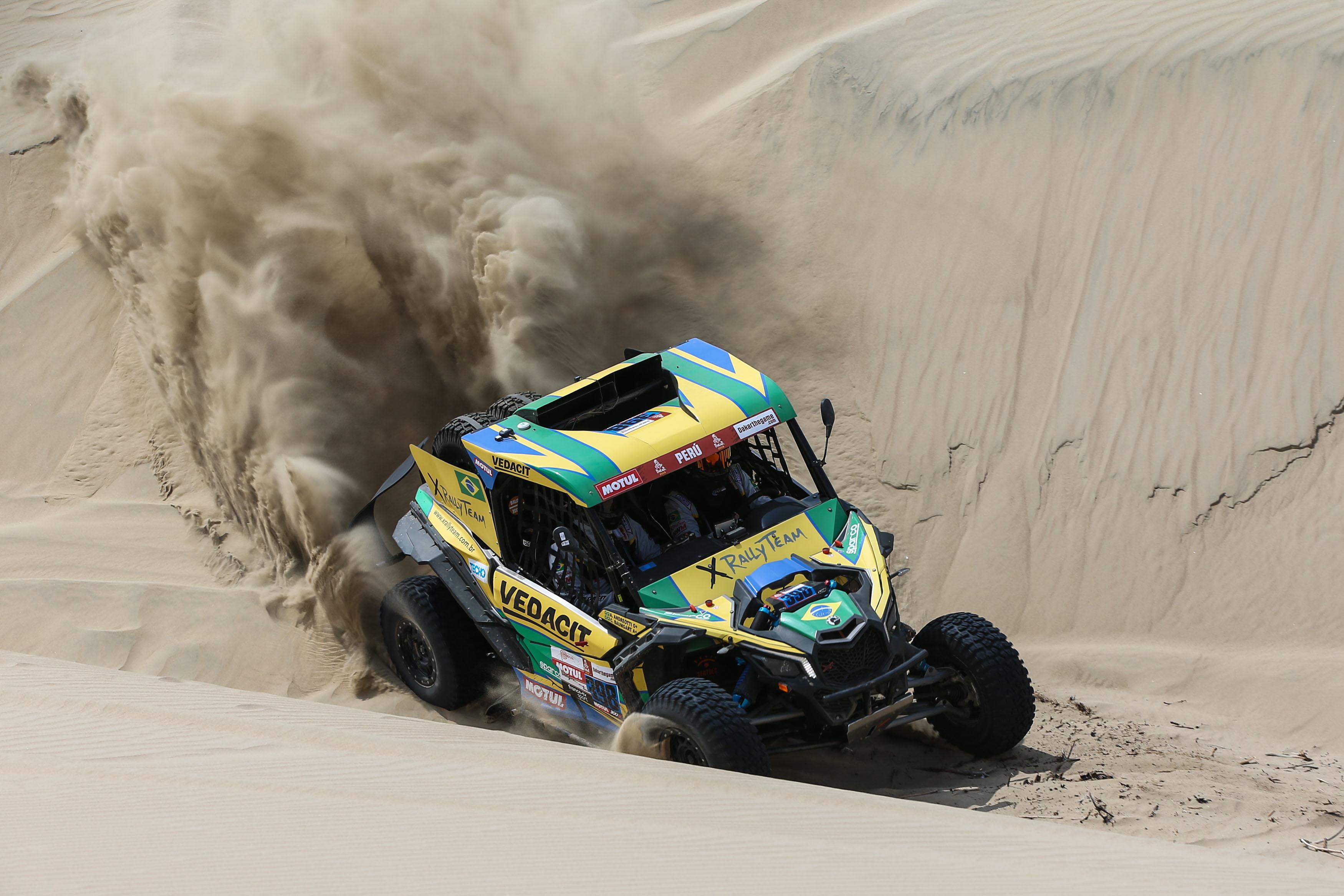 Cumprindo objetivo, Marcos e Kleber superam as dunas do segundo dia e fecham em quinto lugar